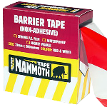 Barrier Tape | Non-Adhesive | Red/White | 72MM x 500Meter | Everbuild