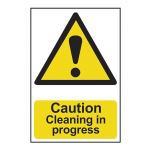Caution Cleaning in  progress - 200 x 300mm