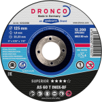 Dronco 125MM x 1MM x 22.23 Inox Metal Cutting Disc | 5"