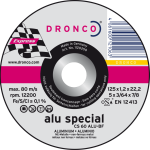 Dronco 115MM x 1.2MM x 22.23 Alu Cutting Disc | 4 1/2"